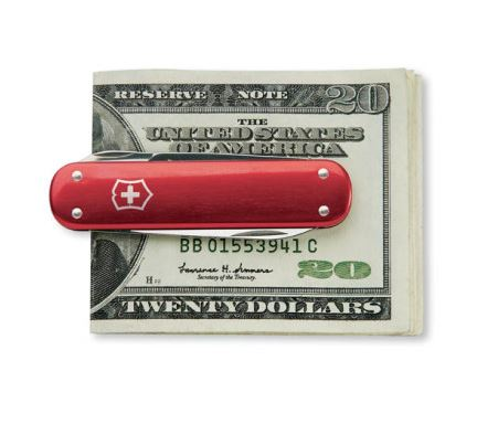 Swiss Army Money Clip - Red Alox