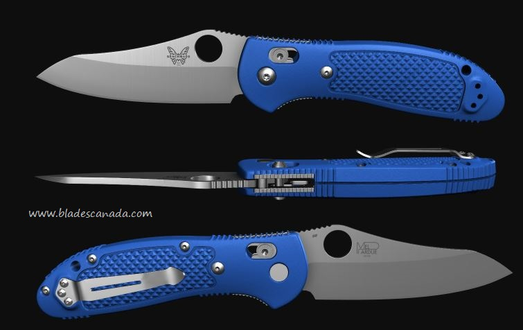 Benchmade Griptilian Sheepsfoot 550, D2 Steel, Royal Blue (Online Only)