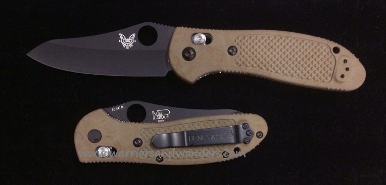 Benchmade Griptilian Black Plain Edge Sand Handle 550BKHGSN