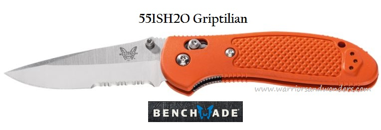 Benchmade Griptilian Orange w/Serration 551SH2O (Online Only)