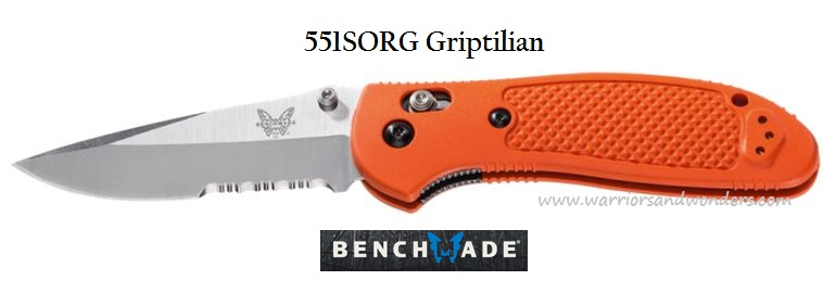 Benchmade Griptilian Drop Point Orange, ComboEdge 551SORG
