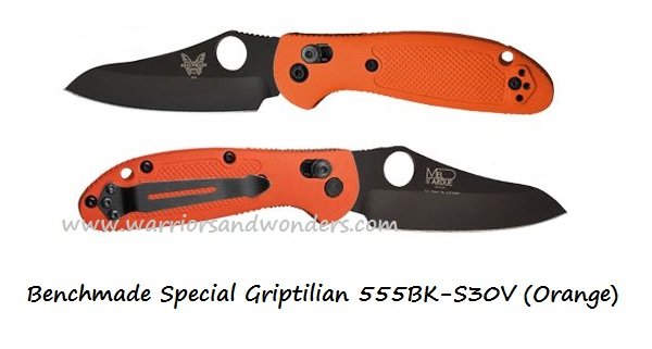 Benchmade Griptilian 555 Black Blade S30V Orange (Online Only)