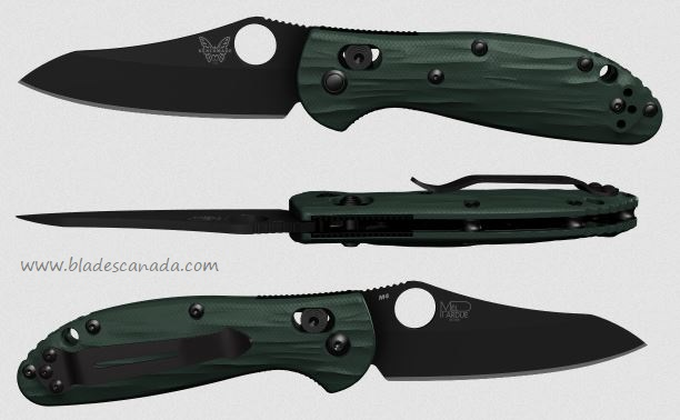 Benchmade Mini Griptilian Pardue 555, M4 Steel, Forest Green G10