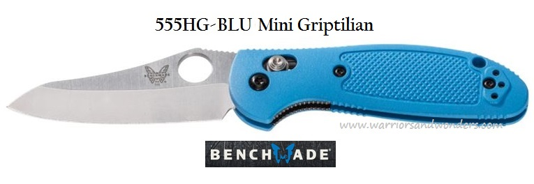 Benchmade Griptilian Mini Plain Edge Blue 555HGBLU