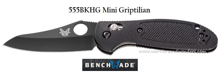 Benchmade Griptilian Mini Black Plain Edge 555BKHG