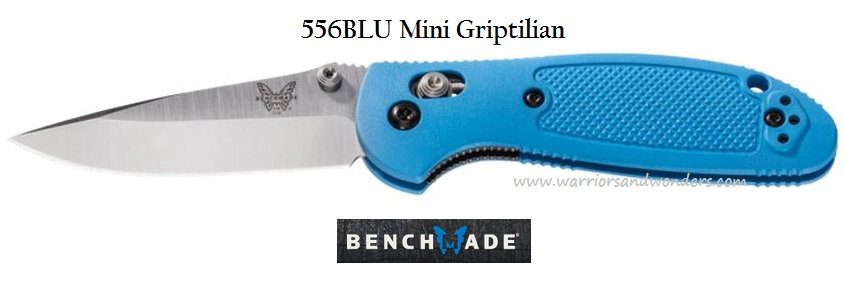Benchmade Griptilian Mini DPT Plain Edge Blue 556BLU