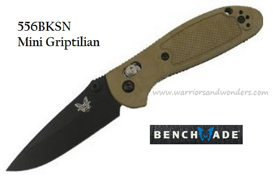 Benchmade Griptilian Mini S30V Black Plain Edge 556BKSN-S30V