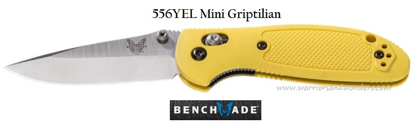 Benchmade Griptilian Mini S30V Plain Edge Yellow 556YEL-S30V