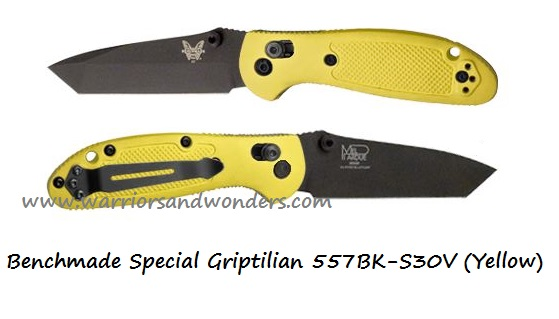 Benchmade Griptilian 557 Tanto Black S30V Yellow (Online Only)