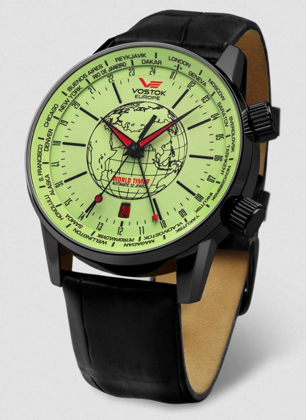 Vostok Europe Gaz Limo Automatic Leather Strap - Glow Dial