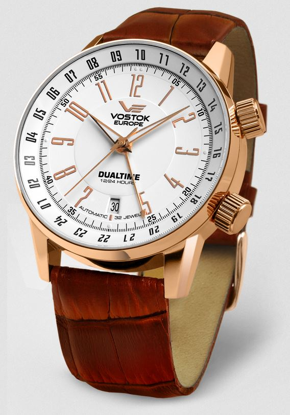 Vostok Europe Gaz Limo Automatic Leather Strap - Rose Gold