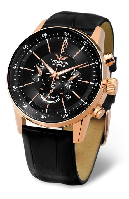 Vostok Europe Gaz Limo Chronograph - Black/Gold
