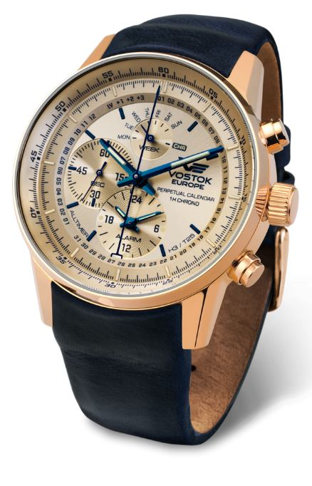 Vostok Europe Gaz Limo Tritium All Timer- Cream/Gold