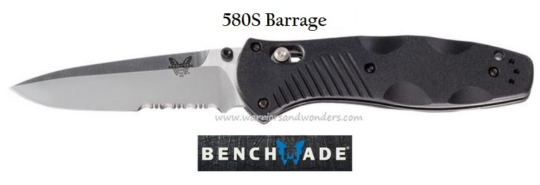 Benchmade Barrage Osborne, 154CM w/Serration, Assisted Opening BM580S