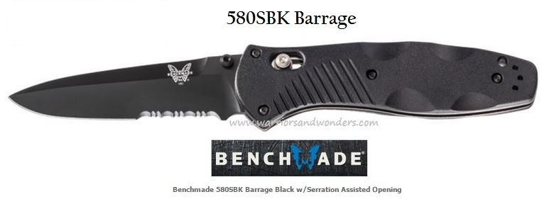 Benchmade Barrage Black w/Serration Assisted Opening 580SBK