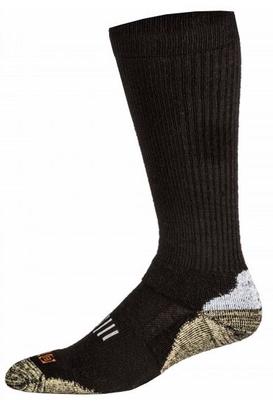 5.11 Marino Wool OTC Boot Sock, Year Round - Black