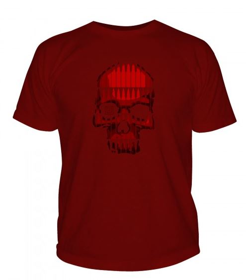 5.11 Bullet Skull T-Shirt - Cardinal Red [Clearance Size M]