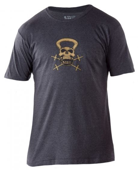 5.11 RECON Kettle Skull T-Shirt - Charcoal Heather