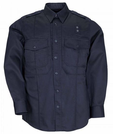5.11 PDU Twill Shirt B Class L/S Uniform Shirt- Navy [Clearance]