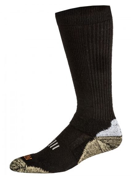 5.11 Marino Wool Crew Sock, Year Round - Black