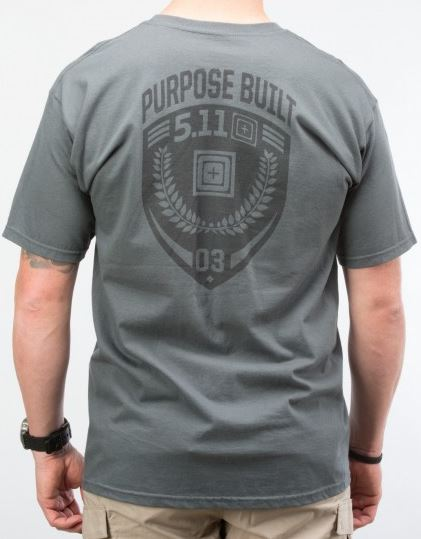 5.11 Purpose Built T-Shirt - Charcoal