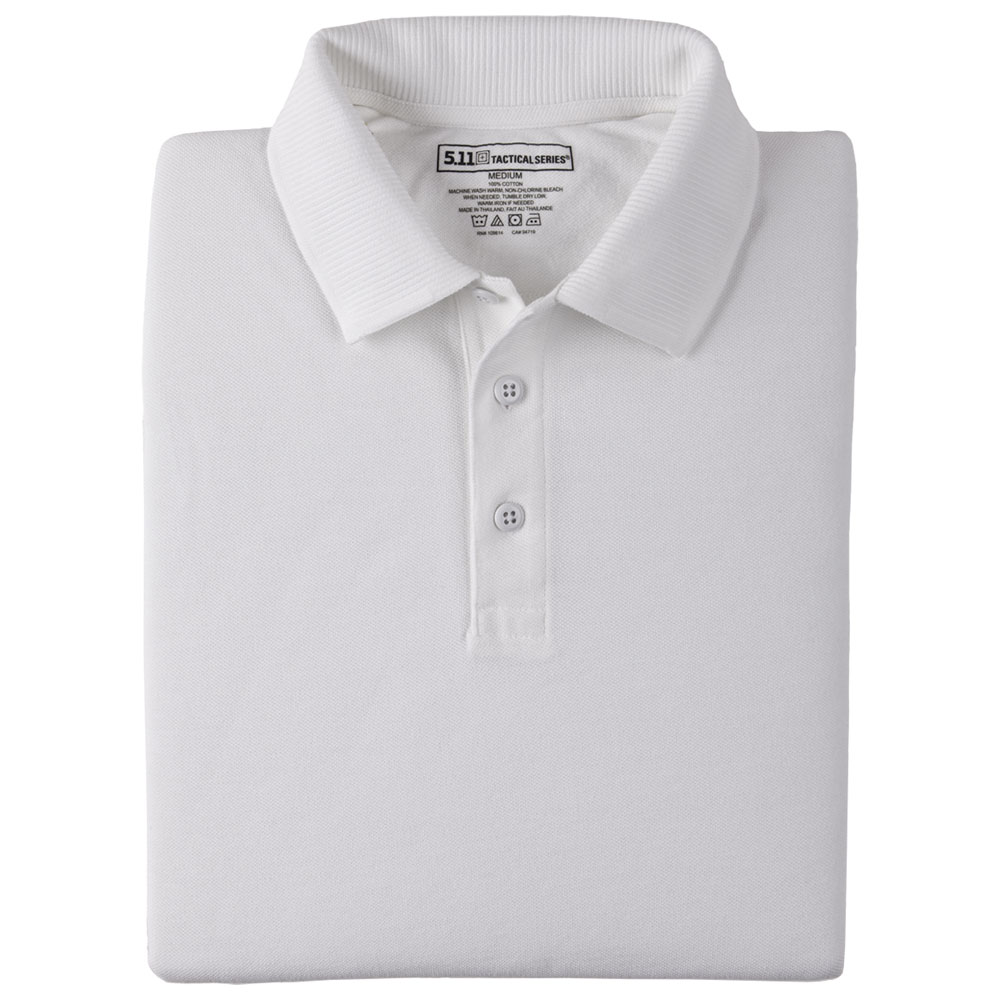 5.11 Professional L/S Polo - White [CLEARANCE]