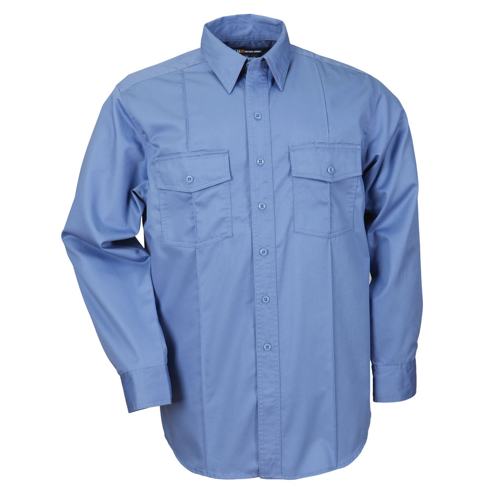5.11 Men's L/S Station Shirt A Class, Non - NFPA - Fire/Med Blue