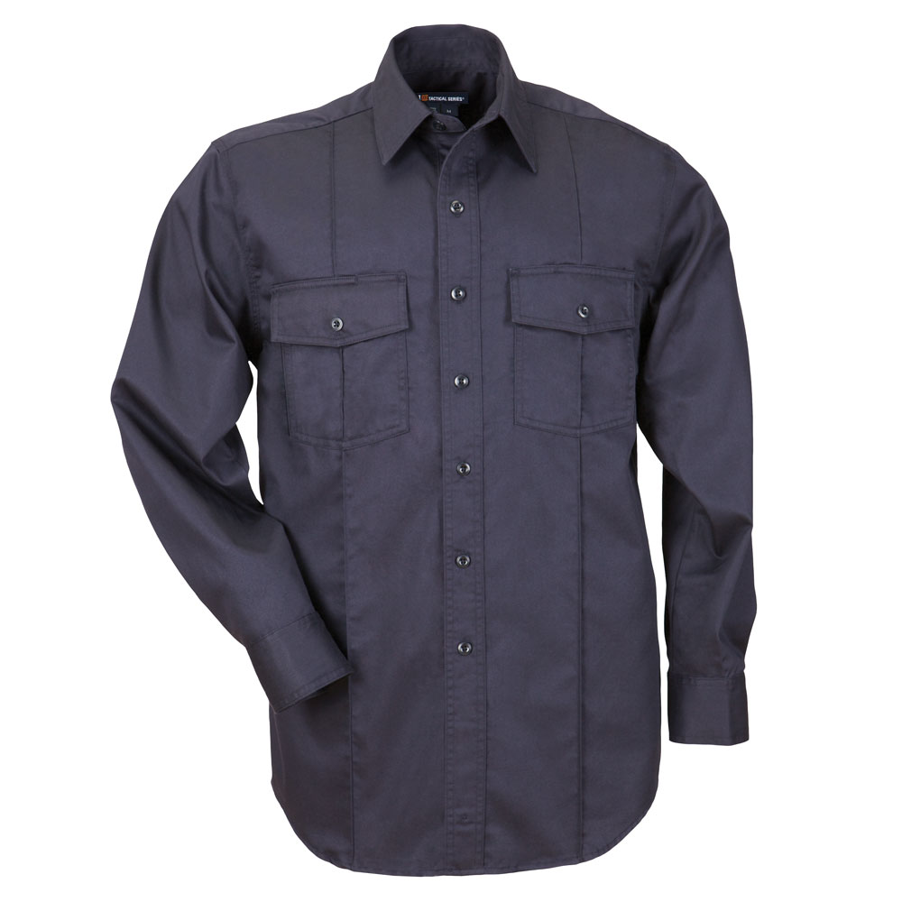 5.11 Men's L/S Station Shirt A Class- Fire Navy [Clearance]