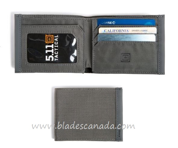 5.11 Bifold Wallet - Storm Grey