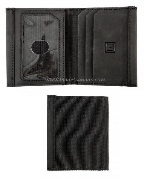 5.11 Gusseted Card Case Bifold Wallet - Black