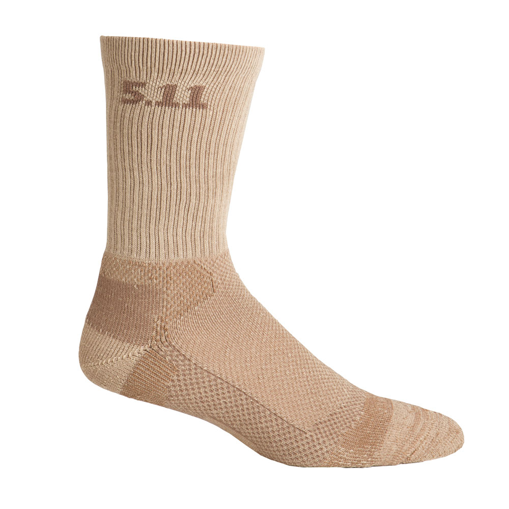 "5.11 Level 1 6"" Sock - Regular Thickness - Coyote Brown"