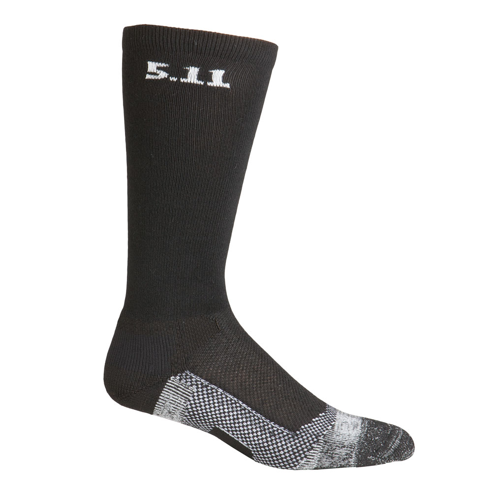 "5.11 Level 1 9"" Sock - Regular Thickness - Black"