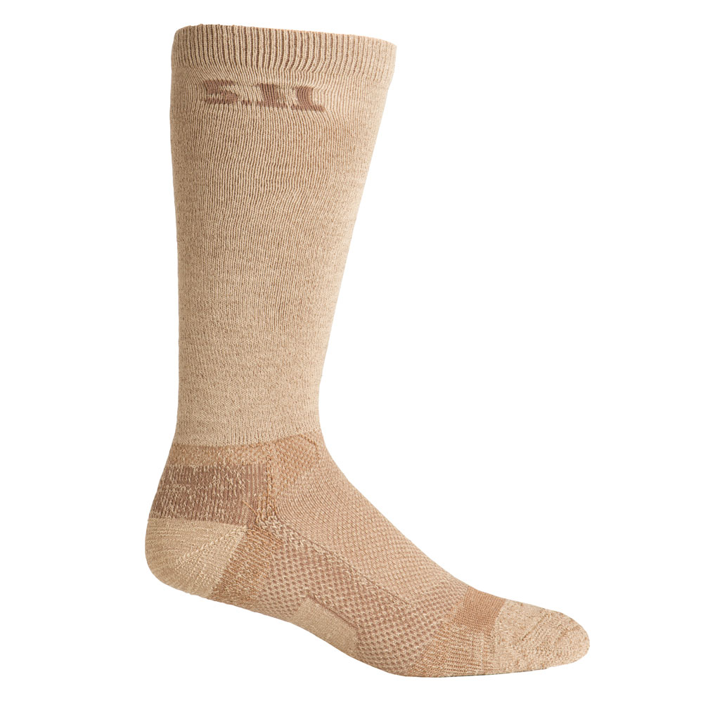 "5.11 Level 1 9"" Sock - Regular Thickness - Coyote Brown"