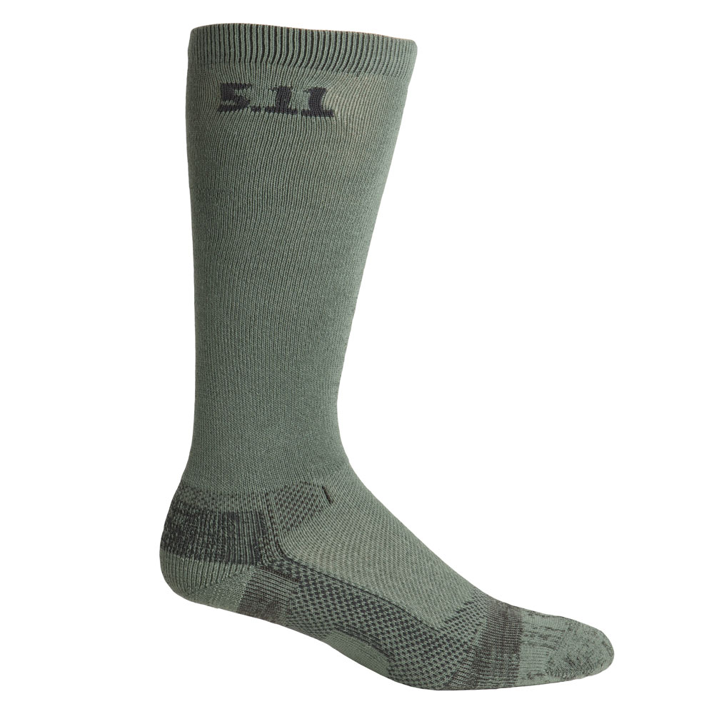 "5.11 Level 1 9"" Sock - Regular Thickness - Foliage Green"