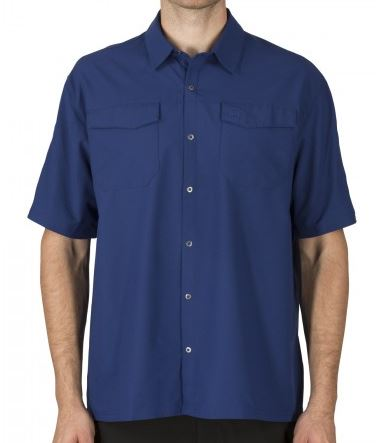 5.11 Freedom Flex Woven Shirt S/S - Olympian Blue