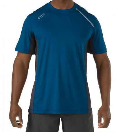 5.11 RECON Adrenaline Top Short Sleeve - Valiant Blue