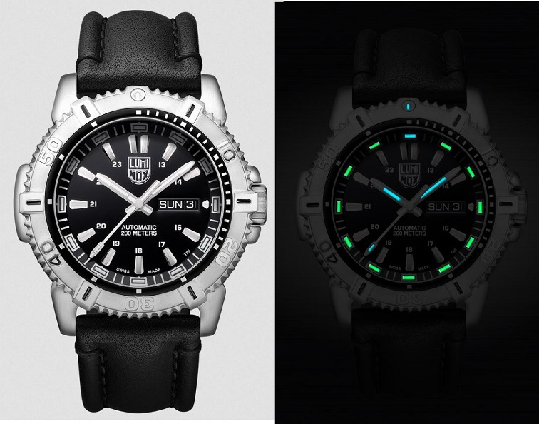 Luminox 6501.NV Modern Mariner 45mm Automatic, Leather Strap