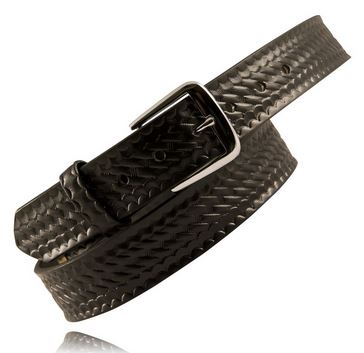 "Boston Leather 6582 1.5"" Traditional Off Duty Belt - Basketweave [Clearance 30"" Only Size XSmall]"