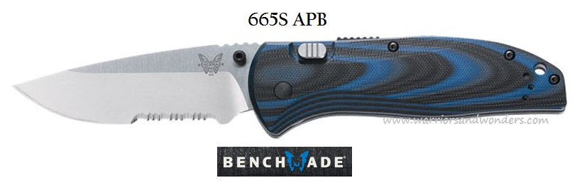Benchmade 665S APB Assist Satin ComboEdge (Online Only)