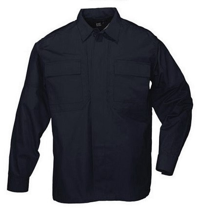 5.11 TDU Shirt L/S Twill Shirt - Dark Navy [Clearance Size XL]