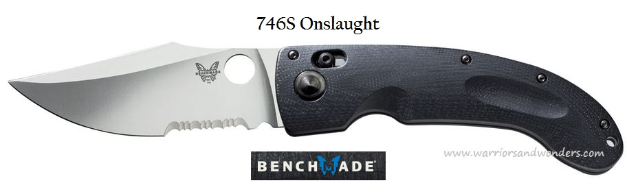 Benchmade 746S Mini-Onslaught Satin Blade Serrated (Online Only)