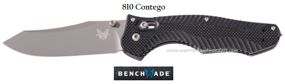 Benchmade Contego Plain Edge w/Glass Breaker 810 (Online Only)