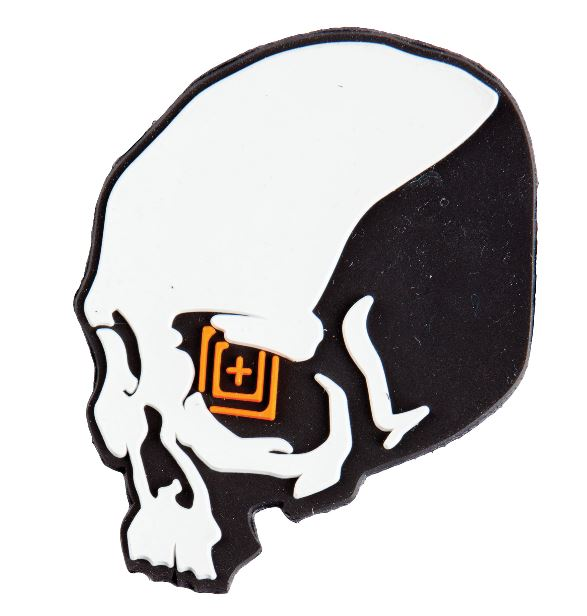 5.11 Silicone Tactical Patch Skull Shot - Grey