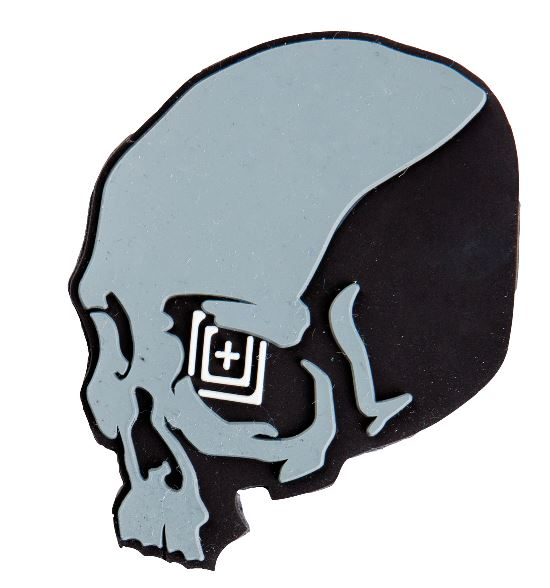 5.11 Silicone Tactical Patch Skull Shot - Black