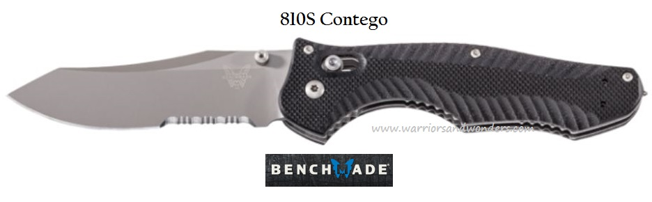 Benchmade 810S Contego Partially Serrated w/Glass Breaker