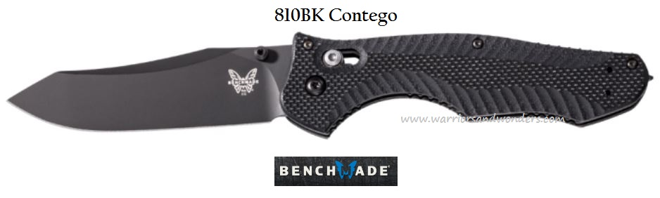 Benchmade Contego Black Plain Edge w/Glass Breaker 810BK