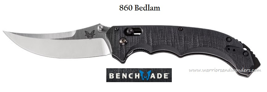 Benchmade Bedlam Satin Plain Edge 860