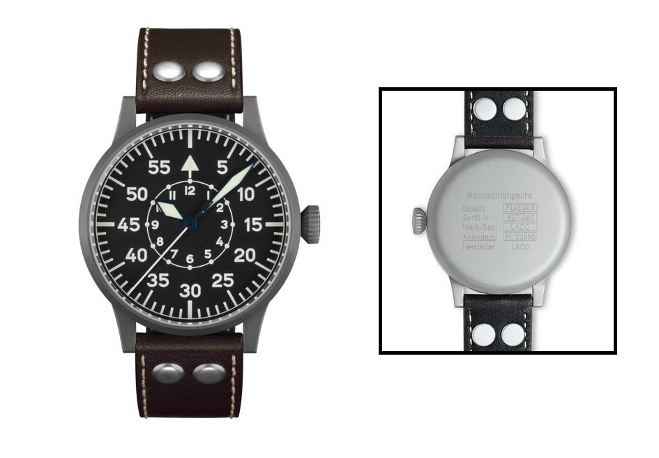 Laco Original Pilot Watch 45mm Handwind Dortmund 861751