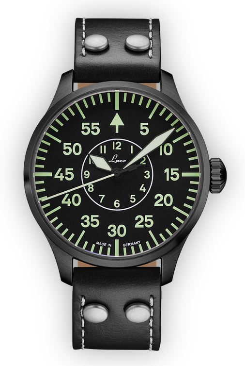 Laco Basic Pilot Watch 42mm Automatic Bielefeld 861760.2 Type B