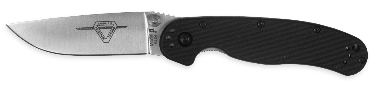 OKC 8860 RAT 2 Plain Edge - Black Handle